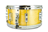 plywood snare drum isolated on white background poster