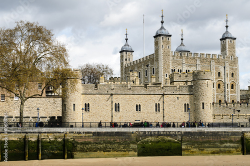 Tower of London with cloudy sky in April 2012