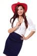 Frau mit rotem Hut I.