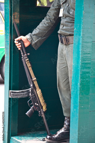 guard in thai palace