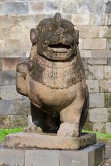 Lion carved stone at Borobudur