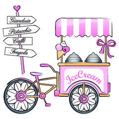 Ice cream bicycle