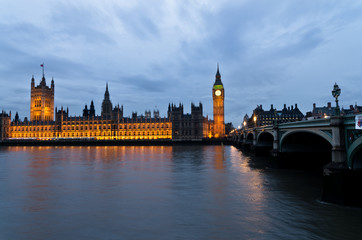 Londra, Westminster : le Houses of Parliament