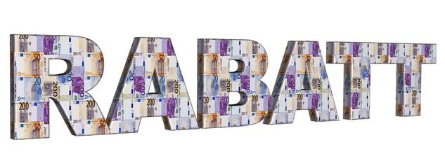 3D Geldschrift - RABATT