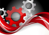 Fototapety Background with gears