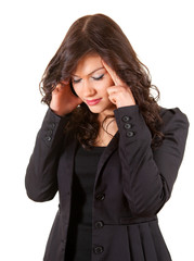 suffering from pain - businesswoman with headache