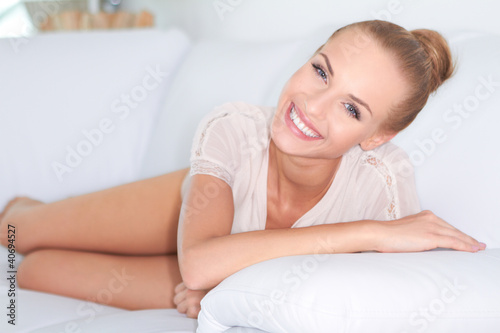 Lovely smile on beautiful woman