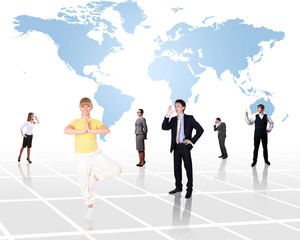 World map and social network
