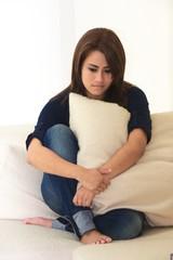 Portrait of a sad women