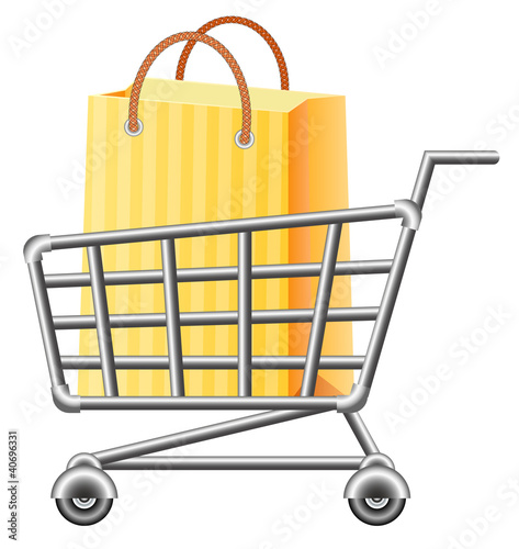 shoppingcart and shopping bag