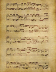 old music on parchment