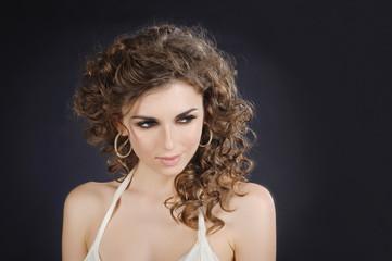 Beautiful girl studio portrait