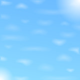 Blue sky with clouds, vector eps10 illustration