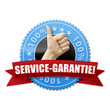 Service-Garantie! Button, icon
