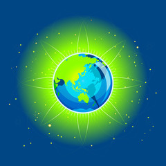 Earth Beam Asia Continents