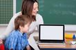 laptop im klassenzimmer