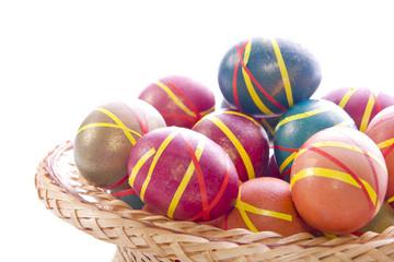 Multi-colored Easter eggs