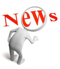Man and news