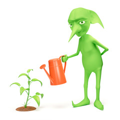 Elf and plant