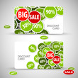 Set of big sale cards