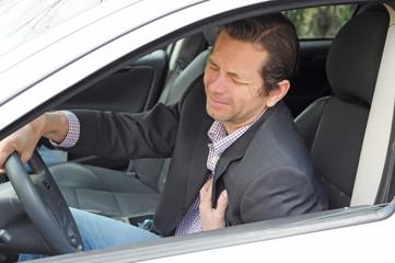 Herzinfarkt im Auto