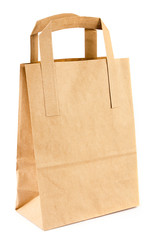 Empty brown paper bag