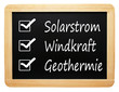 Solarstrom Windkraft Geothermie