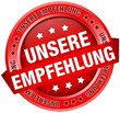 "Button Banner Unsere Empfehlung"" rot"