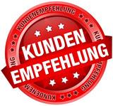 """Button Banner """"Kundenempfehlung"""" rot"""
