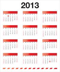 Red calendar 2013 EN