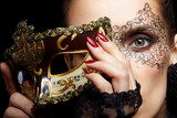 Fototapety gorgeous woman in mask