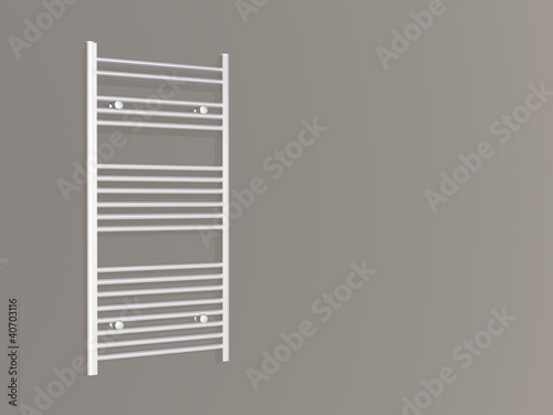Wall mounted towel heater panel