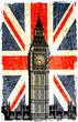 drapeau anglais  big ben vertical