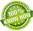 "Button Banner ""100 % Know How"" grün"