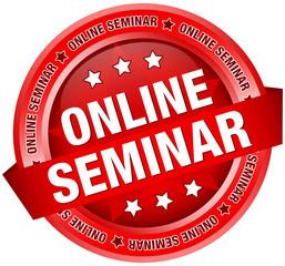 "Button Banner ""Online Seminar"" rot"