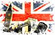 roleta: drapeau anglais decoupe