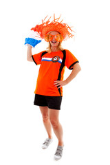 Dutch female soccer suporter