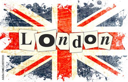 Fototapeta samoprzylepna drapeau anglais london