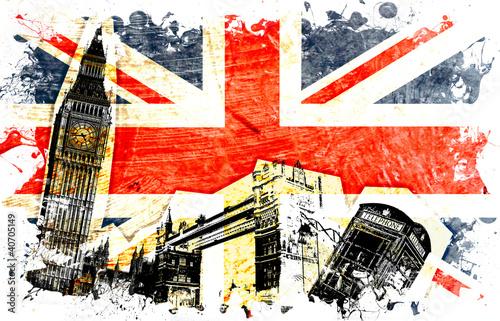 Fototapeta drapeau anglais decoupe