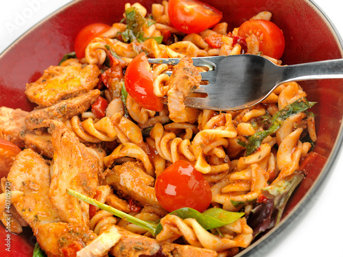 Chicken, tomato and basil pasta