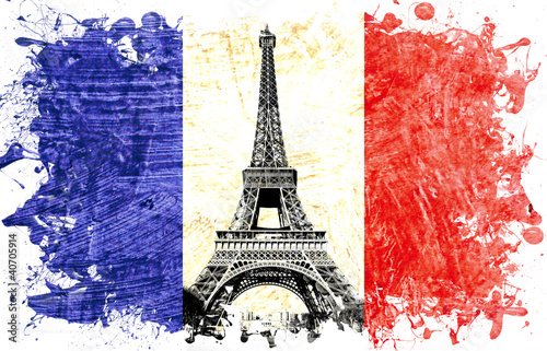 Fototapeten,frankreich,paris,eiffel tower,fahne