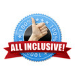 All inclusive! Button, Icon