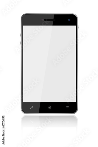 Touchscreen Smart Phone on white background,included clipping pa