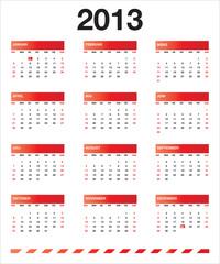 Rot kalender 2013 DE