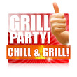 Grillparty! Chill & Grill! Button, Icon