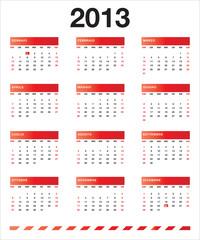 Calendario rosso 2013 IT