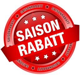 """Button Banner """"Saisonrabatt"""" rot"""