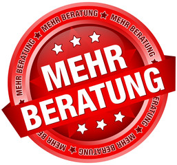 "Button Banner ""Mehr Beratung"" rot"