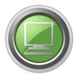"""Green 3D Style Button """"Desktop Computer"""""""