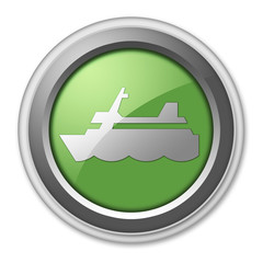 """Green 3D Style Button """"Cruise Liner"""""""